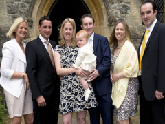 Photographing a christening