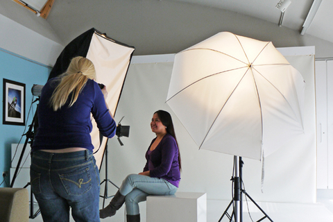 Photographing in the studio